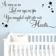 wall sticker for baby room as soon as we laid our eyes on you baby wall wall sticker for baby room baby nursery wall decals