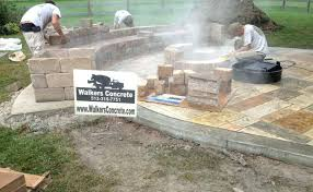 stamped concrete wall stamped concrete patio with seating walls stamped concrete wall