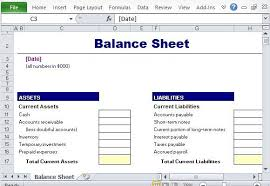 Basic Balance Sheet Template Excel Simple Balance Sheet Maker Template For Excel Balance