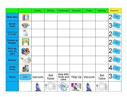 Behavior Charts Printable For Kids Chore Chart Kids