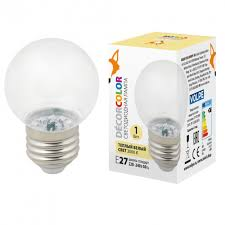 <b>Led</b>-<b>g45</b>-<b>1w</b>/<b>3000k</b>/<b>e27</b>/<b>cl/с лампа</b> декоративная светодиодная ...