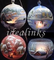 Hand Decorated Christmas Balls Hand Painted Christmas Glass Balls Votive Candle Holder Buy 27