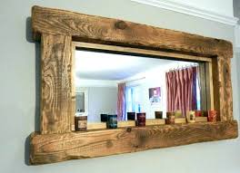 wood mirror frame. Wood Mirror Frame Floor Distressed Wooden Framed Mirrors Bathroom Stained .
