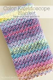 Free Crochet Blanket Patterns Extraordinary Color Kaleidoscope Crochet Blanket Pattern Hooked On Homemade