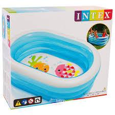 <b>Детский бассейн</b> Яркие <b>Рыбки</b> 163*107*46 см, клапан купить в ...