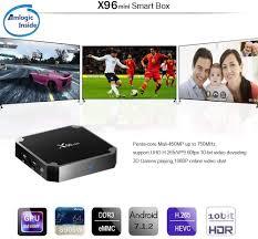 X96 Mini Smart TV Box Android 9.0 Amlogic S905W Quad Core 2.4GHz WiFi  1G8G/2G16G WiFi 4K HD Set-Top Box Media Player 2GB+16GB schwarz Elektronik  & Foto Media-Streaming