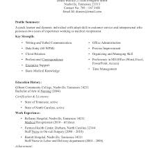 Objective For Medical Receptionist Resume Resume Objectives For