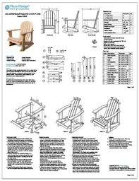 adirondack rocking chair plans. Modren Chair Child Adirondack Rocking Chair Woodworking Plans Trace U0026 Cut ODF22   Outdoor Furniture Project Plans Amazoncom And