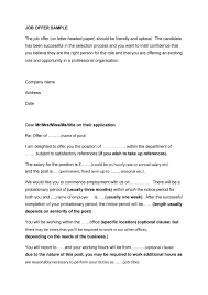 Job Offer Letter At Will Employment - Letter Idea 2018