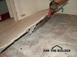 removing tile floor