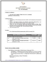 Sample Telecommunications Consultant Resume Example Template Of A Sap Consultant Abap With Great Career