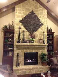 Rock Fireplace Mantel Decor