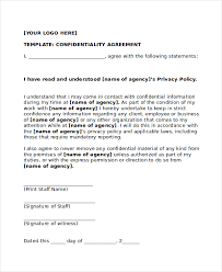 confidentiality agreement template 17 confidentiality agreement templates free sample example