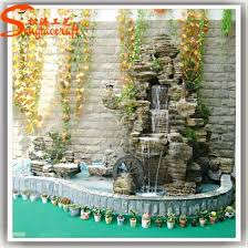 decor garden fish pond stone fountain waterfall with pump pictures photos
