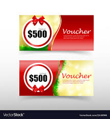 christmas gift card templates 011 christmas gift voucher card template with red vector image