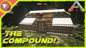 Ark Pve Base Designs How To Build The Compound Pve Base Design Ark Survival Evolved Gameplay Pc