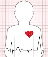 Heart Beat Chart Abstract Human Heart Beat Chart