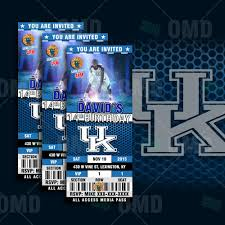 Kentucky Basketball Seating Chart 2 5x6 Kentucky Wildcats Sports Party Invitations In 2019
