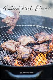grilled pork steaks recipe with