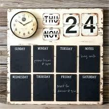 large chalkboard weekly calendar decorative wall decal framed