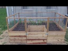 building a u shaped raised bed part