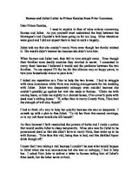 romeo and juliet letter to prince escalus from friar laurence a page 1 zoom in