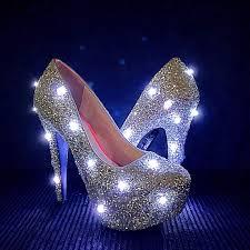 Light Up Stiletto Heels Led Glitter High Heels Silver Light Up Edm Edc Festival Glitter Pump High Heels