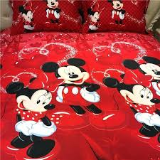 inspirational mickey and minnie bedding for red mickey minnie mouse bedding sets disney cartoon bedspread cotton