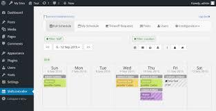 Work Shift Scheduling Shiftcontroller Employee Shift Scheduling Plugin Wordpress