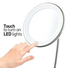 travel lighted makeup mirror long with 5 large