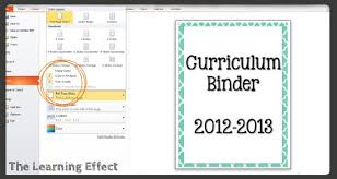create binder cover technology tutorial making binder covers spines the learning effect