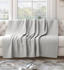 white cotton solid 82x55 inch