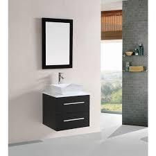 Belvedere 24inch Modern Espresso Floating Single Sink Bathroom Vanity 24 Inch Floating Vanity Overstockcom66
