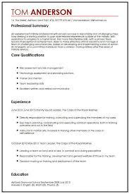 Cv Sample For Veterans Myperfectcv