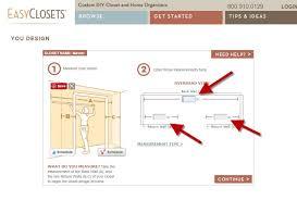 closet design dimensions. Closet TypeDimensionsDoorCustomize Design Dimensions S