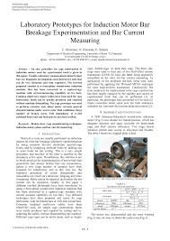 pdf laboratory prototype for induction motor bar breakage experimentation and bar cur mering