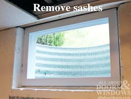 secure the window in place by installing double threaded concrete s along the sides and top of the window