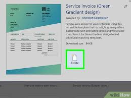 microsoft invoices how to make invoices in word with pictures wikihow
