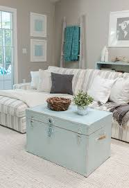 view in gallery pastel blue trunk coffee table in living room