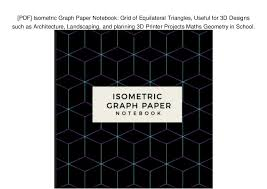 Pdf Isometric Graph Paper Notebook Grid Of Equilateral