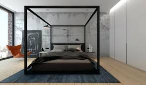 Wood Canopy Bed Black Wood Canopy Bed Contemporary Design Black Wood ...
