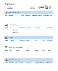 Family Travel Itinerary Template For Excel – Hardimplosion