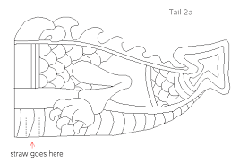 template of a dragon chinese dragon cutout template natashamillerweb