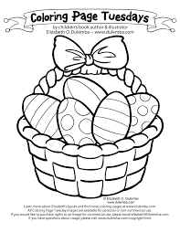 Small Picture dulemba Coloring Page Tuesday Easter Basket