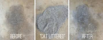 stained concrete patio gray. Cat Litter On An Oil Stain? / 7thhouseontheleft.com Stained Concrete Patio Gray L