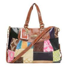 Coach Fashion Matching Large Brown Multi Totes EIH