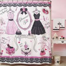 black and pink bathroom accessories. ElegantBath Collection - Glamour Girl Pretty In Pink- Bathroom Shower Curtain So Cute! ♡ Black And Pink Accessories R