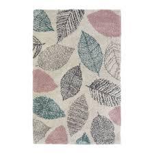 noble leaf pastel blue rug