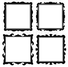 Antique black ornate frames set Stock Vector Colourbox
