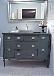 antique looking bathroom vanity. Vintage Blue-grey Color Bathroom Vanity With Eye-catchy Knobs Antique Looking